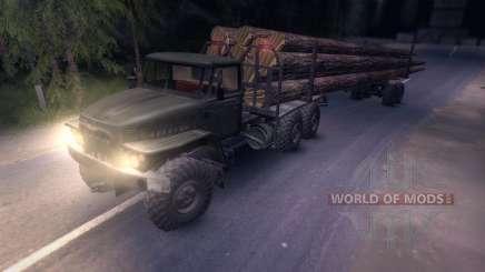 Der Ural-Holz-Träger für Spin Tires