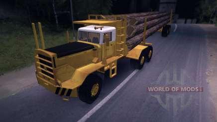 Camion bois Hayes HQ 142 (HDX) avec semi-remorque pour Spin Tires