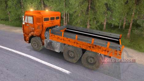 KAMAZ 65117 schlammig-Orange für Spin Tires