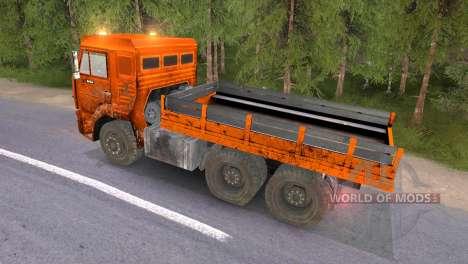 KAMAZ 65117 boueux-Orange pour Spin Tires