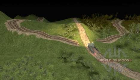 Le plan de l'exploitation forestière sentier 2 pour Spin Tires