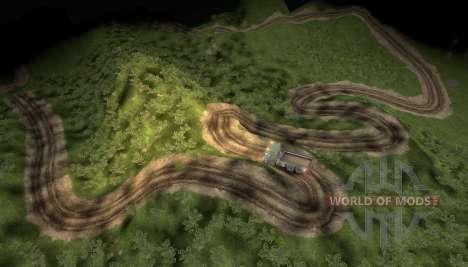 Carte des aventures extrêmes camion pour Spin Tires