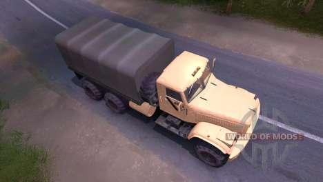 Camion KrAZ-crème pour Spin Tires