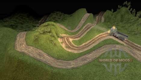 Karte von die Extreme LKW-Abenteuer für Spin Tires