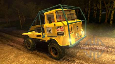 IFA W50 Truck Trial für Spin Tires