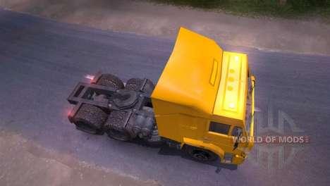KAMAZ-65116 gelb für Spin Tires