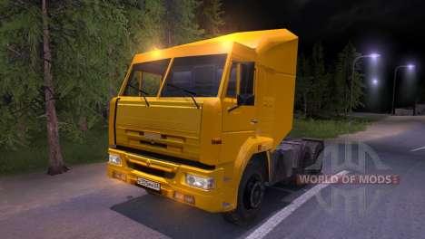 KAMAZ-65116 jaune pour Spin Tires