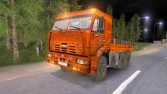 KAMAZ 65117 boueux-Orange