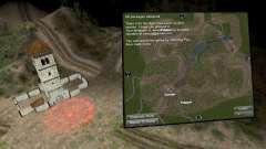 Karte von sanften Hügeln