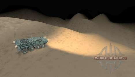 Carte-désert - pour Spin Tires