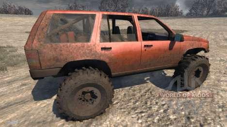 Jeep Grand Cherokee Trail für BeamNG Drive