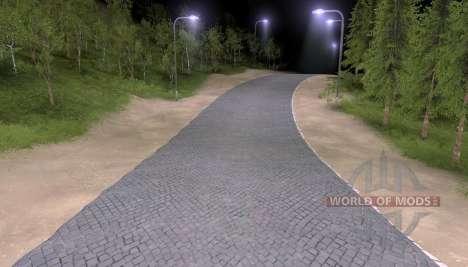 La route de pavés pour Spin Tires