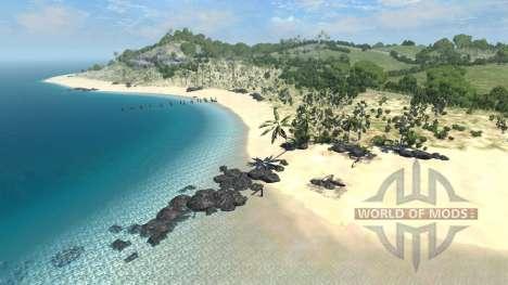 Lage-Dry-rock-island- für BeamNG Drive
