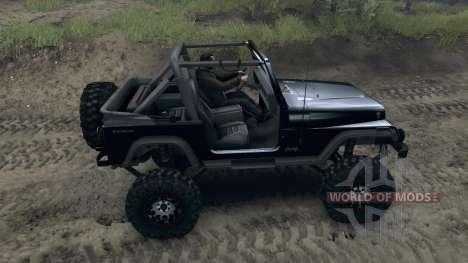 Jeep Wrangler YJ Sahara pour Spin Tires