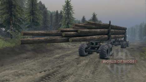 KrAZ-L bois v3.0 pour Spin Tires