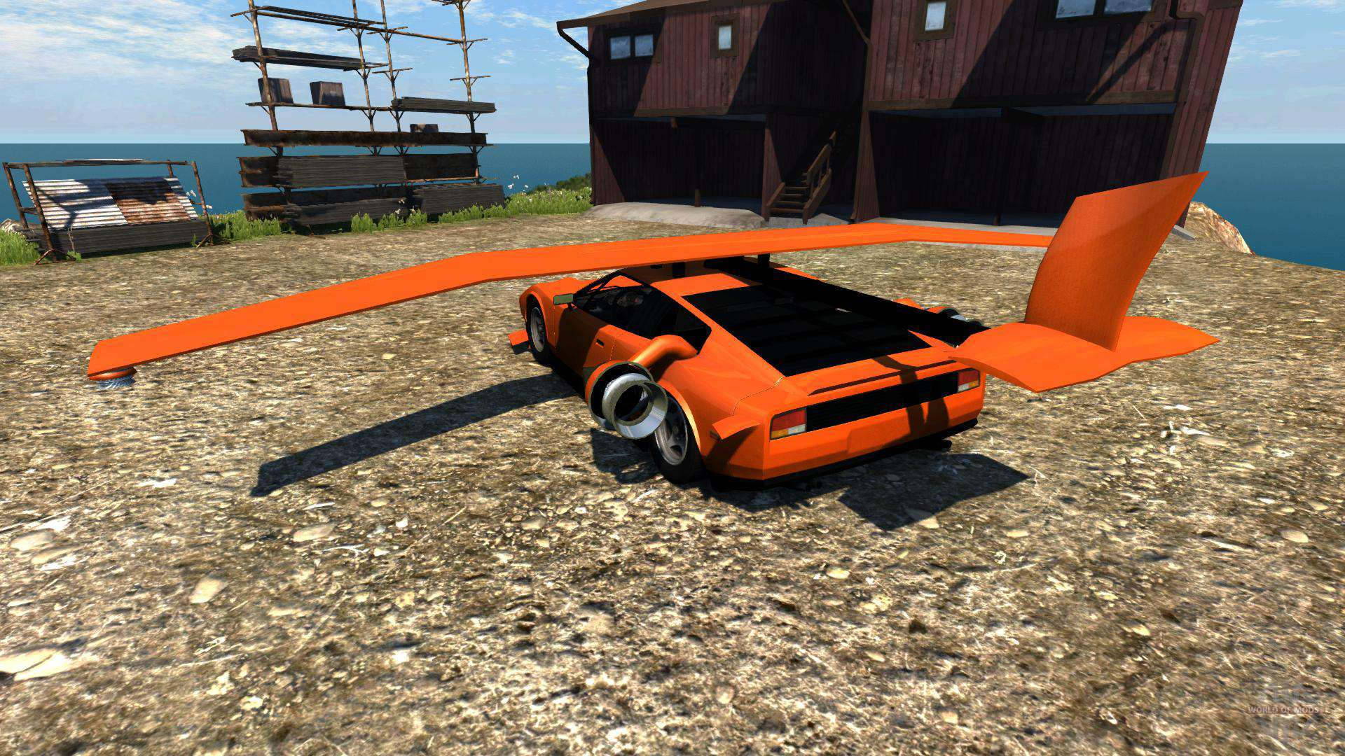beamng rocket car
