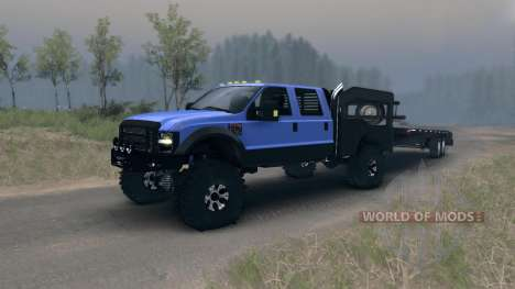 Ford F-350 Super Duty 6.8 2008 GooseNeck pour Spin Tires