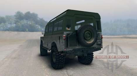 Land Rover Defender Olive pour Spin Tires