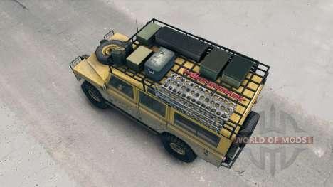 Land Rover Defender Camel für Spin Tires