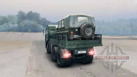 KamAZ-65117 pour Spin Tires