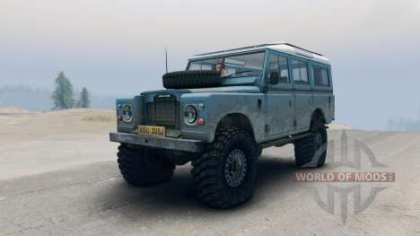 Land Rover Defender Blue für Spin Tires