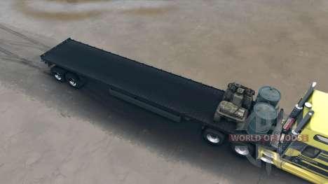 Sattelzug mit ATV und Fässer für Spin Tires