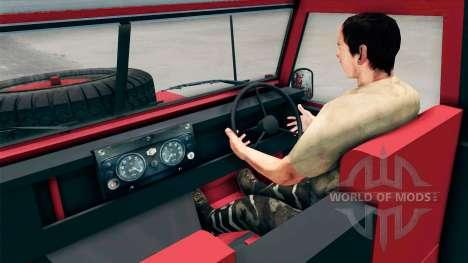 Land Rover Defender Red für Spin Tires