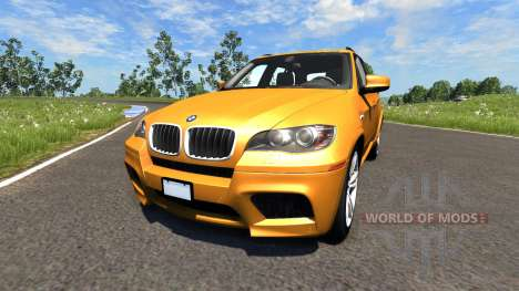 BMW X5M Orange für BeamNG Drive