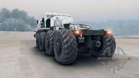 Weiß MAZ-535 für Spin Tires