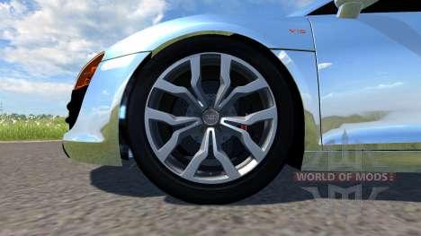 Audi R8 Chrome pour BeamNG Drive
