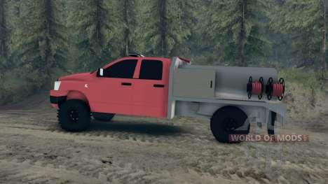 Dodge Ram 1500 brush truck für Spin Tires