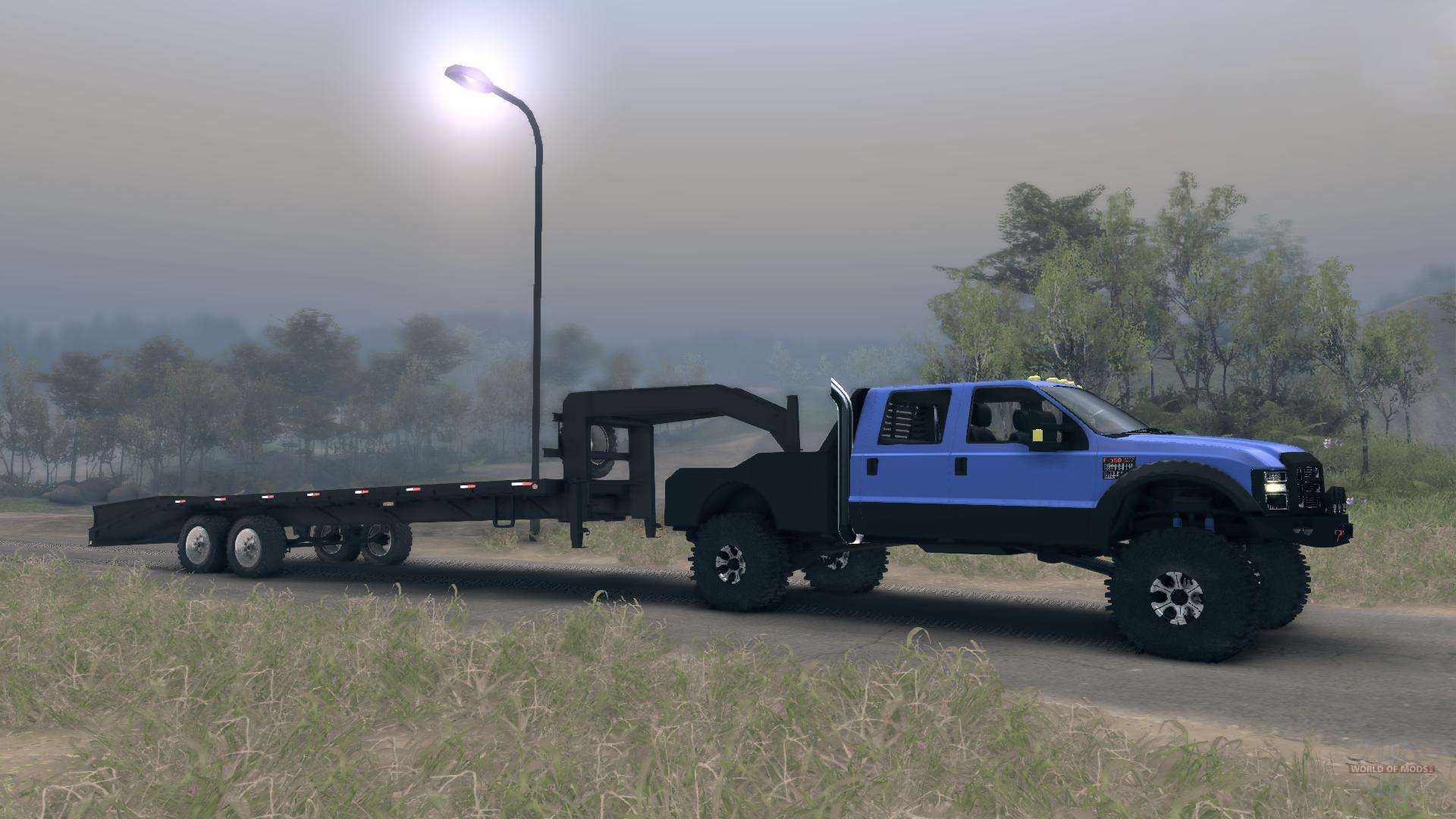 Ford F 350 Super Duty 6 8 2008 Gooseneck Pour Spin Tires
