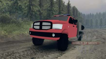 Dodge Ram 1500 brush truck pour Spin Tires
