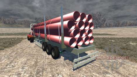 Gavril D-Series full size logging trailer für BeamNG Drive