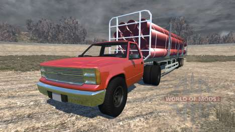 Gavril D-Series full size logging trailer pour BeamNG Drive