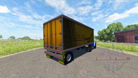ZIL-V mit semi-Stahl Pferdekutsche für BeamNG Drive
