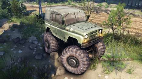 УАЗ-469 Monster Truck v2 pour Spin Tires