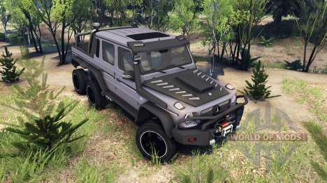 Mercedes-Benz G65 AMG 6x6 Ultimate pour Spin Tires