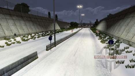 L'hiver pour Euro Truck Simulator 2