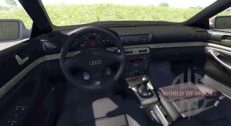 Audi S4 2000 [Pantone Black 5 C] pour BeamNG Drive