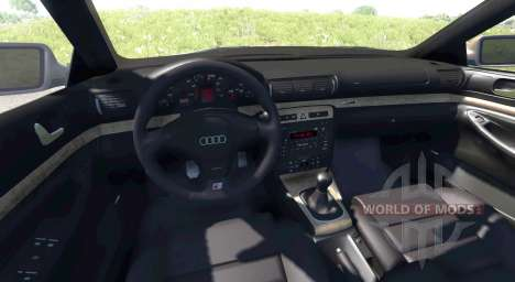 Audi S4 2000 [Pantone Blue 0821 C] pour BeamNG Drive