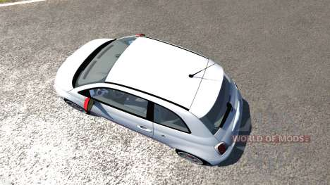 Fiat 500 Abarth White pour BeamNG Drive