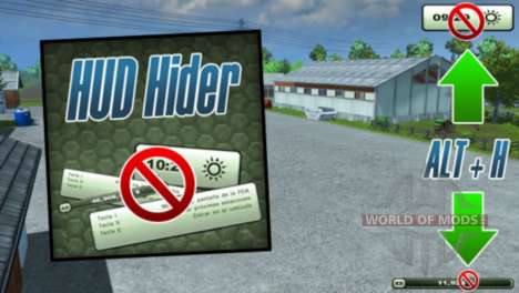 HUD Hider v1.13 pour Farming Simulator 2013