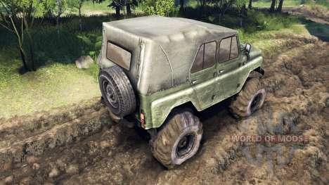 УАЗ-469 Monster-Truck-v3 für Spin Tires