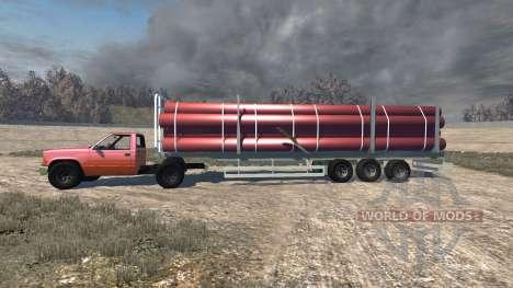 Gavril D-Series full size logging trailer für BeamNG Drive