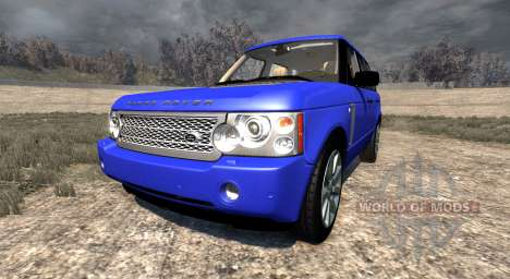 Range Rover Supercharged 2008 [Blue] pour BeamNG Drive