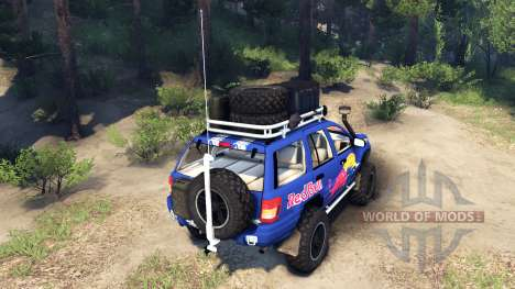 Jeep Grand Cherokee WJ Red Bull pour Spin Tires