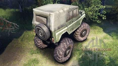 УАЗ-469 Monster-Truck-v2 für Spin Tires