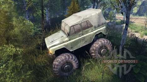 УАЗ-469 Monster Truck v2 pour Spin Tires