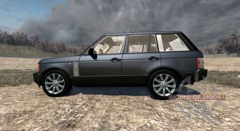 Range Rover Supercharged 2008 [Black] für BeamNG Drive